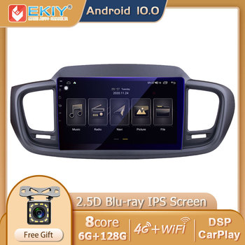 EKIY DSP IPS Android 10 Car Multimedia Player 6G+128G For Kia Sorento 3 2014-2017 Auto Radio Stereo GPS Navi Wifi USB Carplay HU image