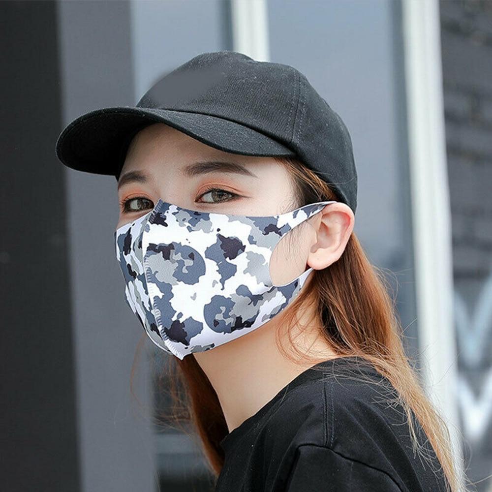 1PCS Fashion Mask Proof Pollution Ice Silk Mask Dust Respirator Washable Reusable Mask Unisex Mouth Muffle 4 Style