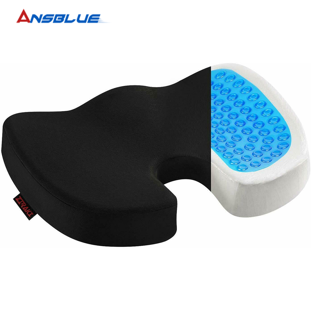 Gel Orthopedic Memory Cushion Foam U Coccyx Travel Seat Massage Car Office Protect Healthy Sitting Breathable Car Accessories