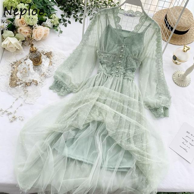 Chic Mesh Vintage Elegant  with Exquisite Beading dress 5