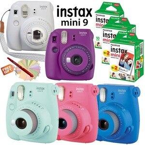 New 6 Colors Fujifilm Instax Mini 9 Instant Camera + 50 Photos Fuji Instant Mini 8 White Frame Film + Free 20pcs Stickers & Pen