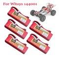 Оригинальный аккумулятор для Wltoys 144001 2s 7,4 В 3500 мАч, литий-полимерный аккумулятор для Wltoys 1/14 144001 124018 124019, аккумулятор для радиоуправляемого ав...