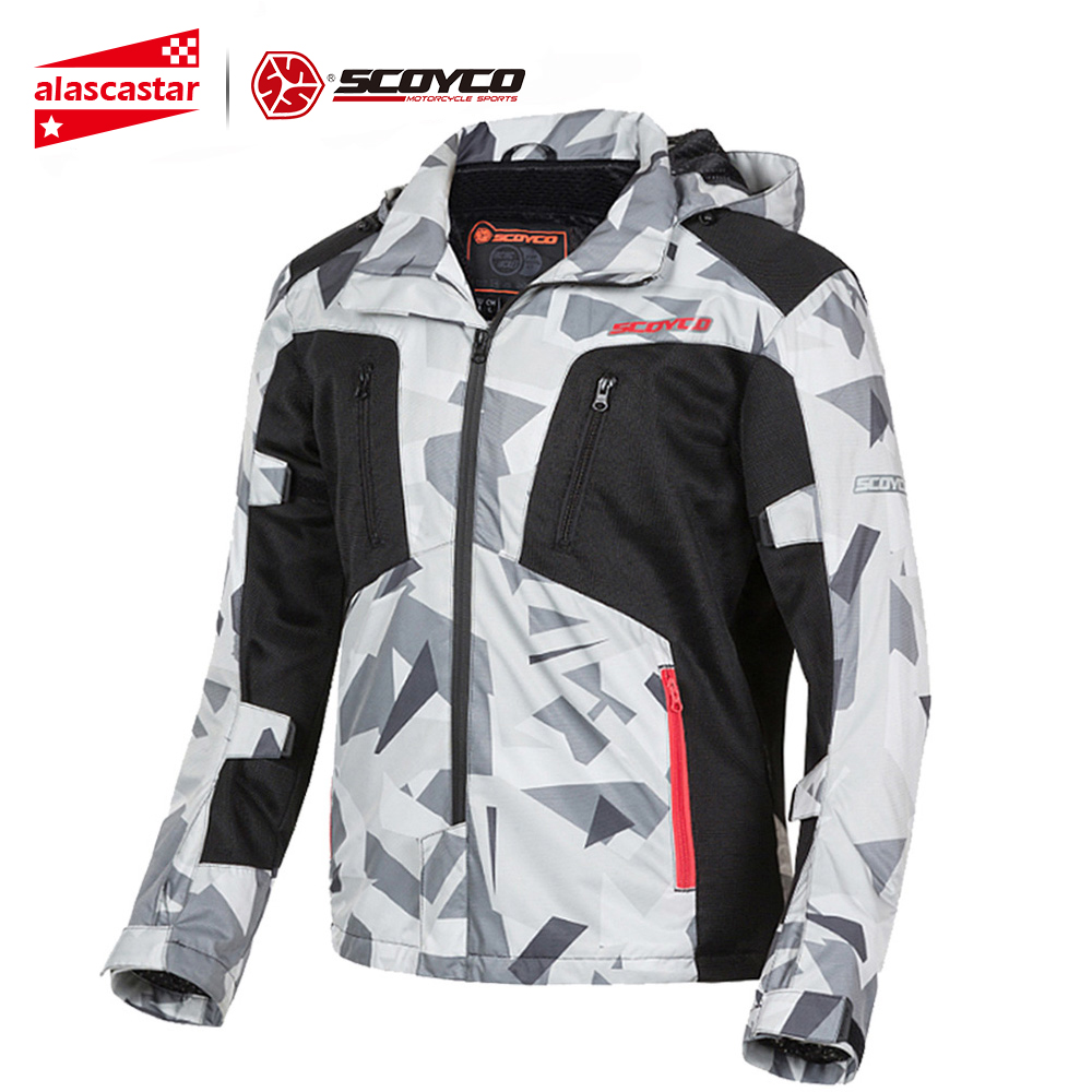 Clearance SCOYCO Motorcycle Jacket Summer Chaqueta Moto Motocross Jacket Men Motorcycle Protection Armor Breathable Moto Jacket#
