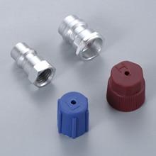 R12 R22 ~ R134a 개조 부품 키트 변환 스트레이트 어댑터 w/밸브 코어 서비스 포트 캡 밸브 피팅 모든 자동차에 적합