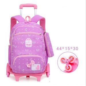 Image 4 - Sac à dos à roulettes pour enfants, sac à dos à roulettes pour les écoliers, sac de voyage à roulettes