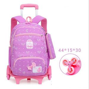 Image 4 - School Rolling backpack for Kids Wheeled Backpack for school Children school trolley Bag kids travel trolley backpack on wheels