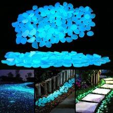 Świecące kamienie świecące w ciemności kamyki świecące kamienie na zewnątrz chodniki dom ogród wystrój ogrodu Fish Tank Pebble Rocks tanie tanio W7042 Żywica