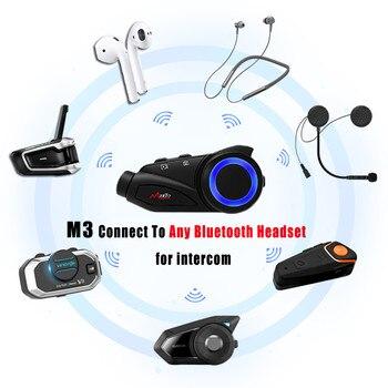 Maxto M3 Motorcycle Helmet Intercom Group 6 Riders Bluetooth WIFI Moto Recorder Interphone Headset W/Sony Lens Dash Cam HD 1080P