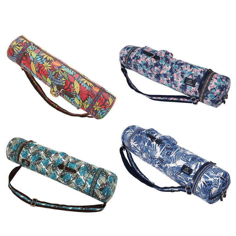 Full-Zip Exercise Yoga Mat Carry Bag Strap With Multi-Functional Storage Pockets For Fitness Training Yoga