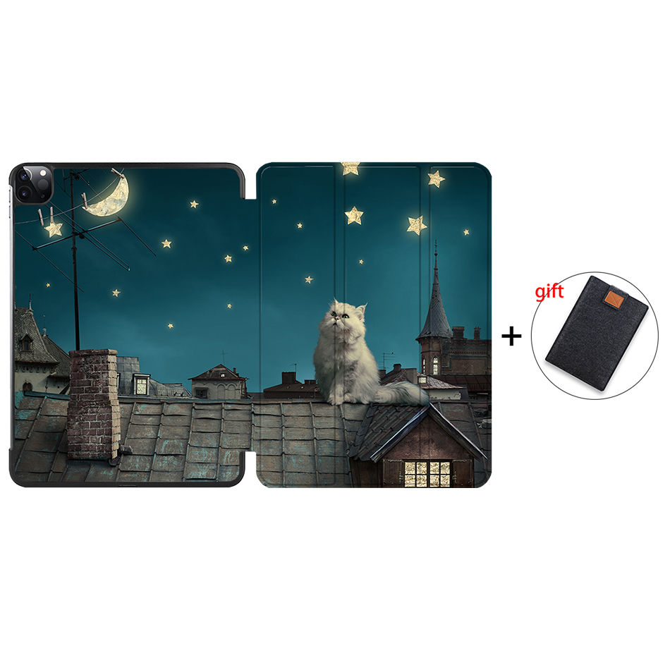 IP13 Silver MTT 2020 Case For iPad Pro 12 9 inch A2229 A2233 Magnetic PU Leather Flip Stand