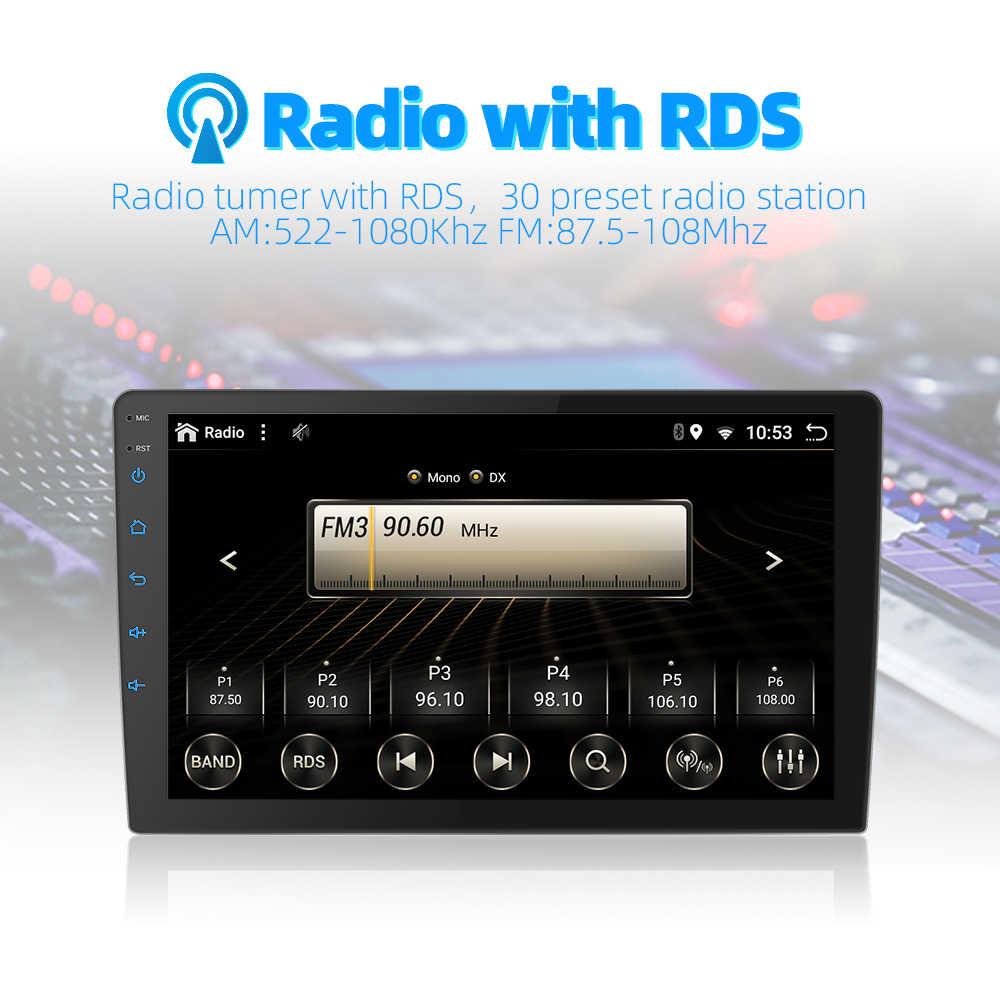 2DIN Android 9.0 Ouad Core PX6 Radio Stereo Dành Cho Xe MAZDA 6 2009-2015 GPS NAVI Âm Thanh Video wifi BT HDMI DAB +
