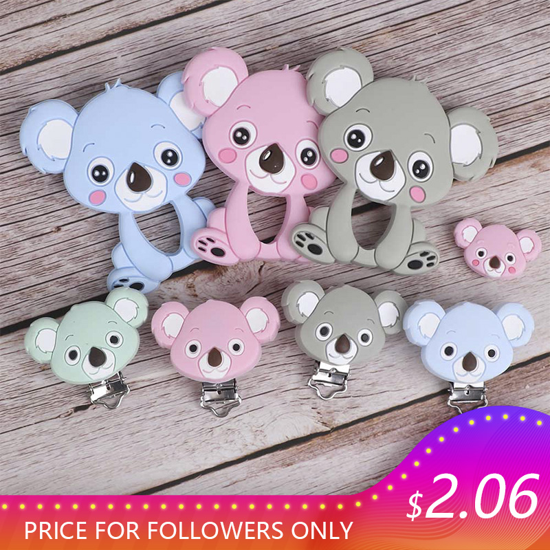Goods  TYRY.HU Koala Baby Teething Silicone Beads Food Grade DIY Accessories Baby Product Teething Necklac