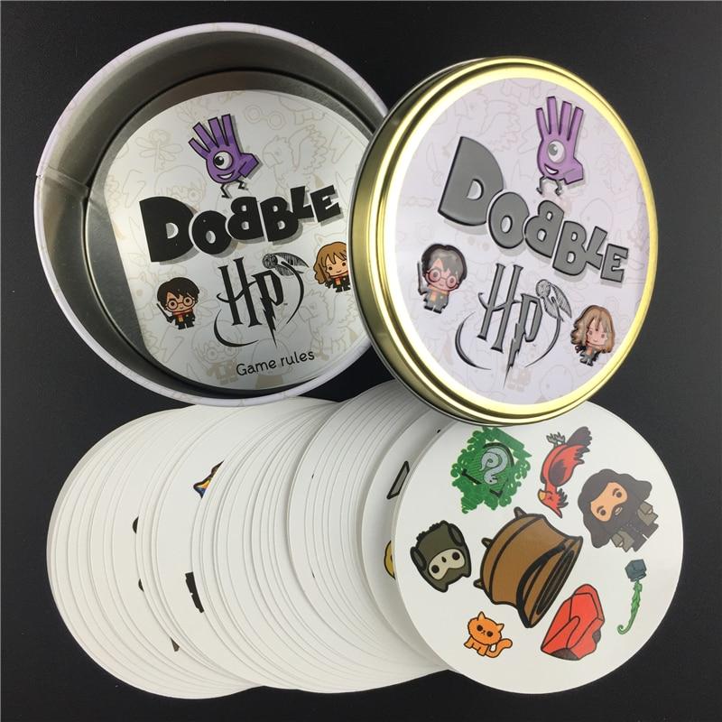 חדש Dobble ספוט זה כרטיס משחק צעצוע ברזל תיבת הרמיוני ספורט ללכת קמפינג ירך ילדים לוח משחק מתנה