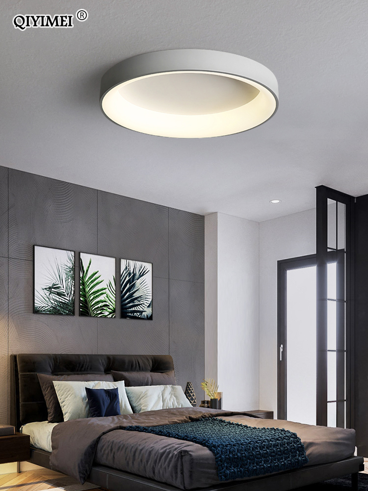 White Grey Modern led Ceiling Lights For Living Room Bedroom Dining Room dimmable Lamp indoor round sqaure Fixtures Lustres
