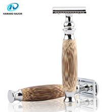 HAWARD New High Quality Natural Bamboo Handle Men's Double-edged Safety Razor More comfortable and Environmentally Friendly