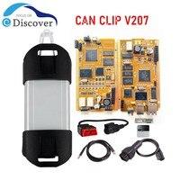 Herramienta de diagnóstico automático para Renault CAN Clip V207, con chip completo, Chip AN2131QC, PCB dorado, cancellip, compatible con varios idiomas