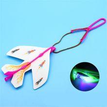 Светодиод рогатка планер пена самолет вспышка свет полет самолет катапультирование самолет вечеринка сувениры дети игрушки подарок
