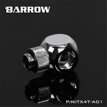 Cube-Tee Barrow Water-Cooling-Tx4t-A01 Metalic for G1/4 Fitting Rotatable 360-Degree