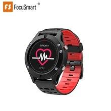 Focusmart f5 스포츠 스마트 시계 gps 혈압 심장 박동 모니터 피트니스 트래커 ios andriod 용 방수 스마트 시계