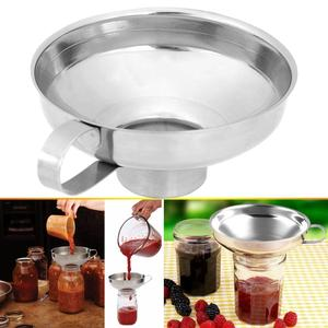 Image 1 - 캐닝 깔때기 스테인레스 스틸 와이드 캐닝 깔때기 호퍼 필터 누출 와이드 입 캔 오일 와인 주방 조리 도구
