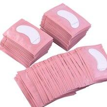 100 cặp Lông Mi Mở Rộng Giấy Bản Vá Lỗi Ghép Dán Mắt 7 Màu Lông Mi Dưới Tấm Lót Mắt Giấy Mắt Bản Vá Lỗi Mẹo Sticker