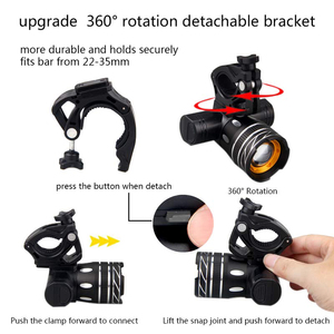 Image 5 - T6 LED USB Line Rear Light Adjustable Bicycle Light 3000mAh Rechargeable Battery Zoomable Front Bike Headlight Lamp