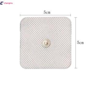 Image 4 - Бесплатная доставка, высокое качество, 50 шт. (25 пар), 5 см * 5 см, проводящие электродные прокладки, десятки/электроды, EMS, используются с TENS/EMS машиной