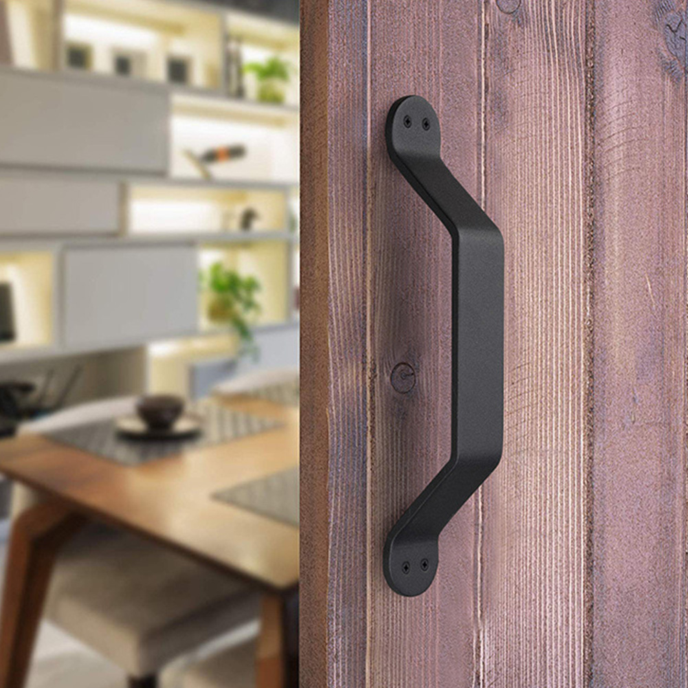 4 Rustic Cast Iron Handles Door Hardware Pull Gate Shed Drawer Cabinet Barn Shed