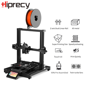 Image 3 - Hiprecy LEO 1S 3D Printer Magnetic Heatbed ALL Metal Printer Support 1.75mm PLA I3 DIY KIT Hotbed Dual Z axis TFT Screen ender 3