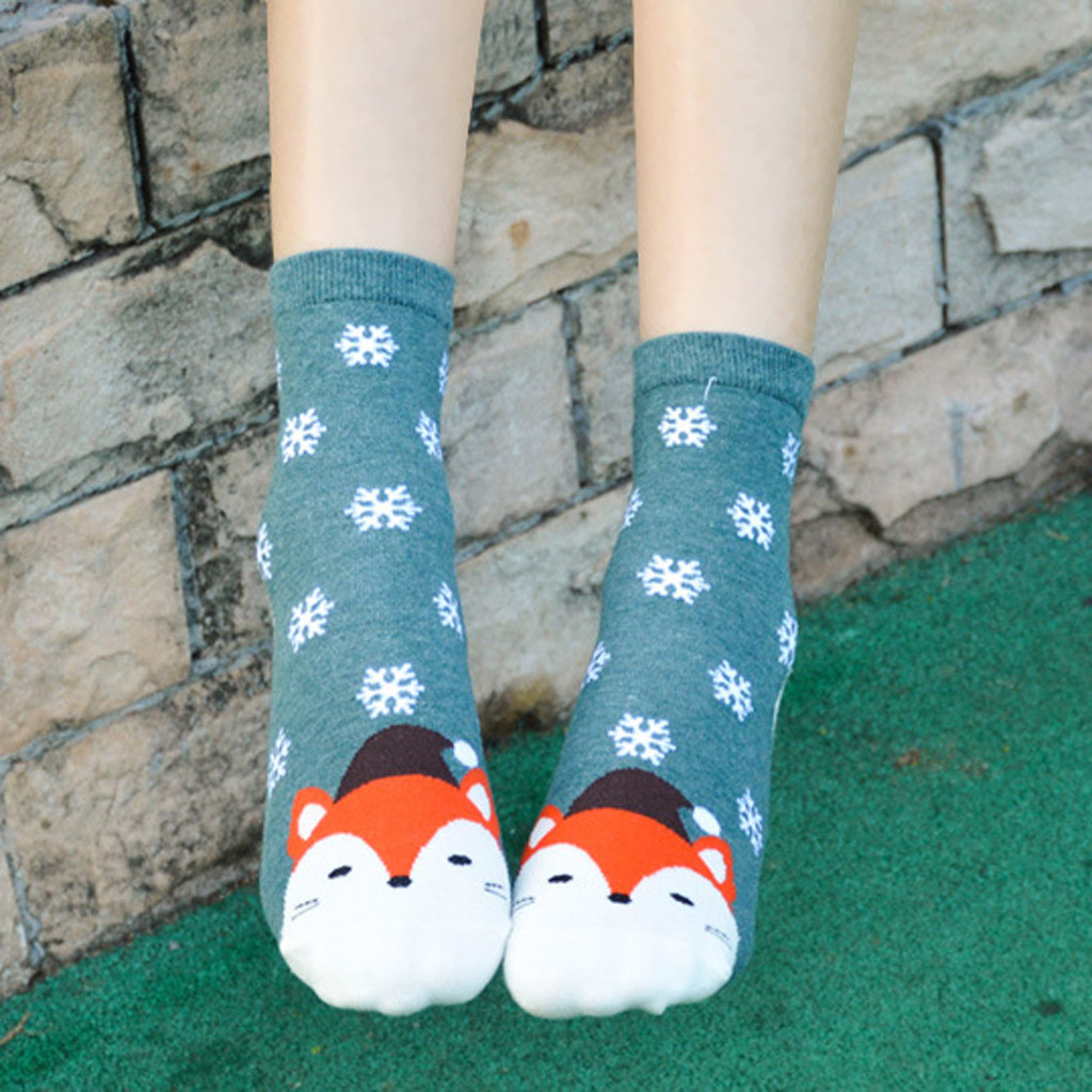 Fun Cartoon Three-dimensional Cute Socks Christmas Energetic Lightweight Socks For Women And Girls Gift High Quality Cotton Sock