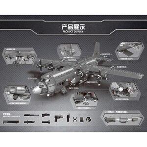 Image 3 - XINGBAO 06023 WW2 צבאי צבא סדרת את AC130 אווירי ספינת תותחי סט אבני בניין לבנים עצרת מטוס דגם Juguetes