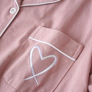Image 5 - Зимние пижамы для женщин с длинным рукавом и принтом, пижамный комплект, Корейская пижама с длинным рукавом размера плюс, Женский пижамный комплект, тонкие пижамы Mujer