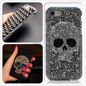 Image 1 - 3D serin Punk Spikes çiviler perçin elmas Bling çapa Samsung Galaxy S10e S9 S10 S20 artı FE not 10 + 10 Lite 9 20 Ultra