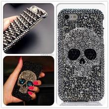 Atacado legal 3d crânio esqueleto punk rebite bling casos para iphone 12 mini 11 pro max xr xs x 6 6s 7 8 plus se 2020 fundas de rock