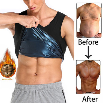 Men Polymer Sweat Sauna Shaper Vest Body Shaper Waist Trainer Slimming Women Tank Top Workout Shirt Weight Loss Body Shapewear 1