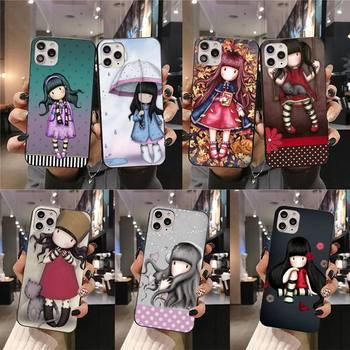 De niña de dibujos animados de Santoro Gorjuss Coque caja del teléfono Shell para iphone 12 pro max 11 pro XS MAX 8 7 6 6S Plus X 5S SE 2020 XR caso