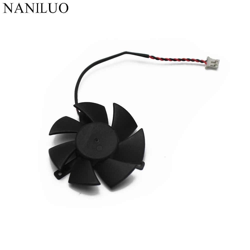 125010-SH2 ZP высокое качество, ультра тихий 5010 Видеокарта Вентилятор лезвие 45 мм диаметр 39 мм Шаг отверстия 12 В 0.08A лезвие вентилятора 2Pin