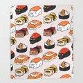 Дизайнерское одеяло с мультяшными животными для кошек  суши  персидское одеяло для кошек  Фланелевое покрывало на диван 100x125  флисовое покры...