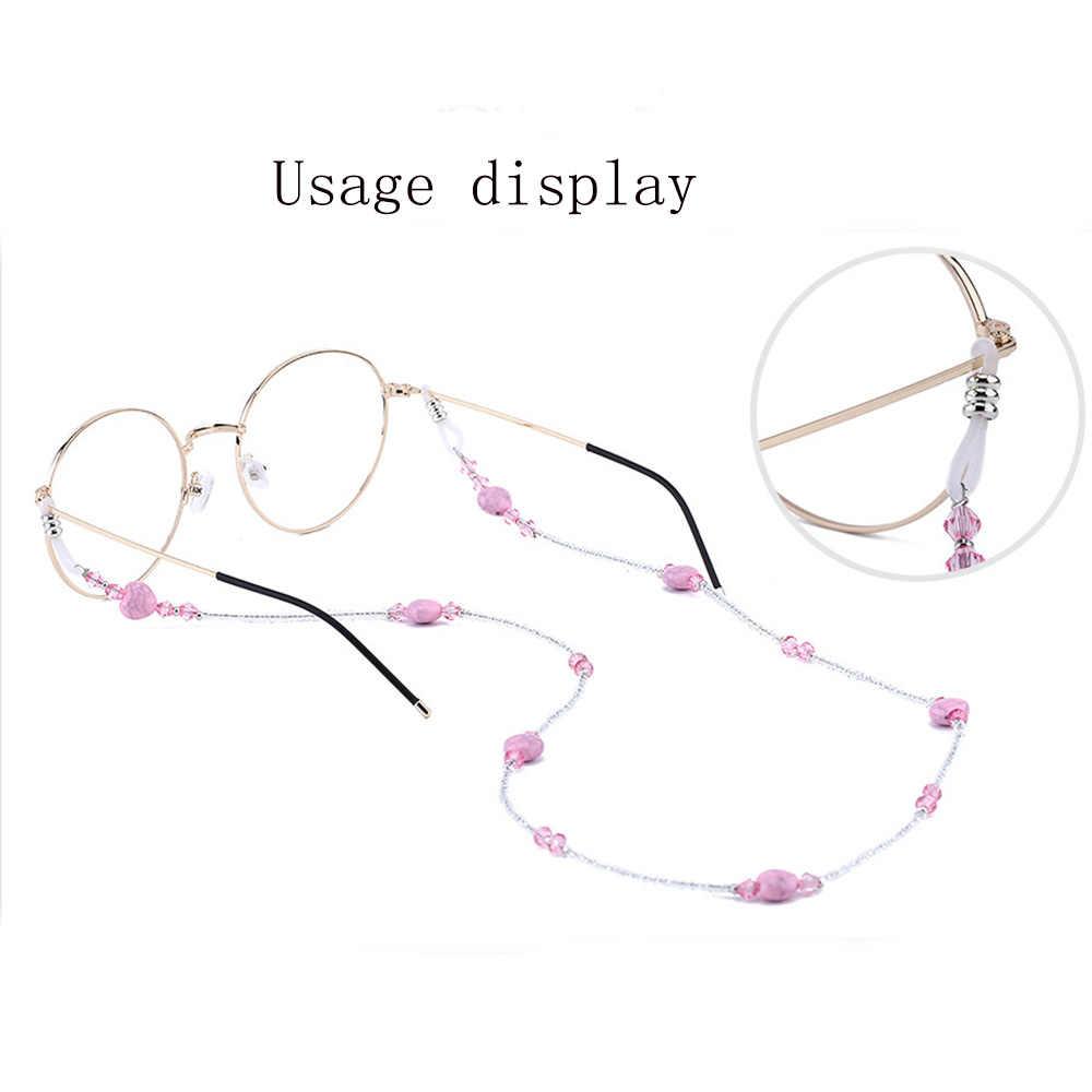 1 ADET Açık spor gözlükler Halat Kalp şeklinde Cam Gözlük Zinciri Retro Gözlük Kordon kaymaz Zincirler