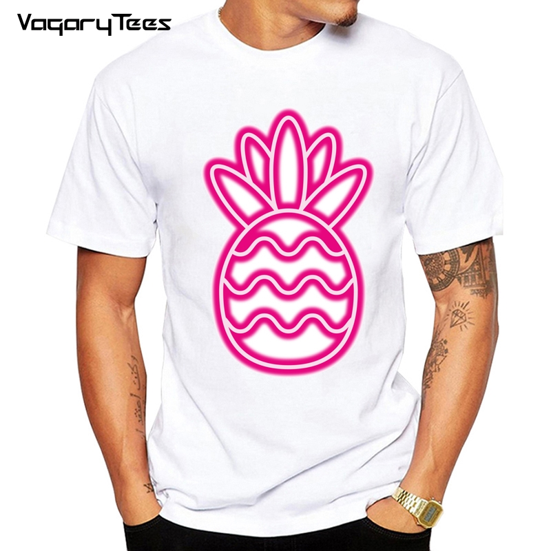 H13e3f45a4df54b02a592a471544bdd3fS - men Clothes Sun Beach Pineapple Funny Aesthetic Printed Tshirt men Leisure Short Sleeve O-neck T Shirt Fruit T-shirt