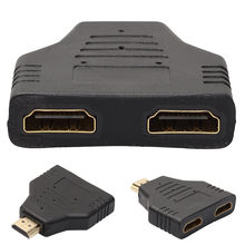 OMESHIN HDMI macho a doble HDMI hembra adaptador divisor de 1 a 2 vías para HD TV caliente DH para reproductores de DVD Xbox Blueray PS3(China)