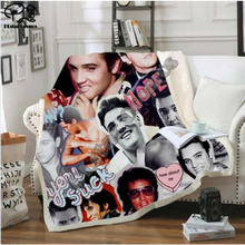 Elvis Presley 3D Blanket for Beds Hiking Picnic Thick Quilt Fashionable Bedspread Fleece Throw Blanket style-3 stranger things blanket for beds hiking picnic travel winter thick couch cover hot movies bedspread sherpa fleece throw blanket