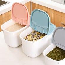 Пластик 4/8 кг риса герметичный ящик для хранения влагостойкий