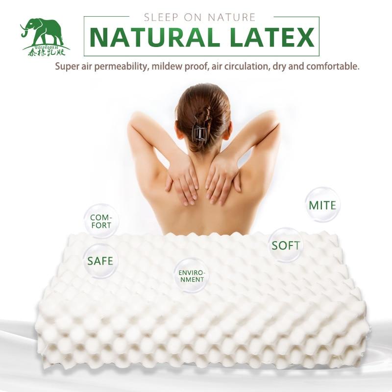 Таиланд чистый натуральный латекс подушка для коррекции шеи Защита позвонков здоровье Ортопедическая подушка Натуральная Детская латексная подушка|Подушки на кровать|   | АлиЭкспресс