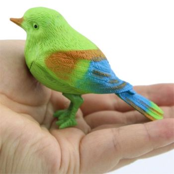 OOTDTY Novelty Voice Controlled Bird Call Chirp Electronic Pet Gag Kids Baby Toy Toddler