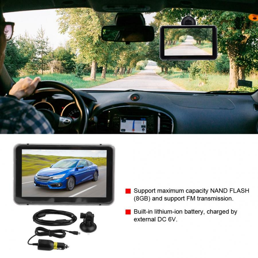 Recorder Dvr Camera Gps-Navigator Car-Accessories Touch-Screen Capacitive Android 7in
