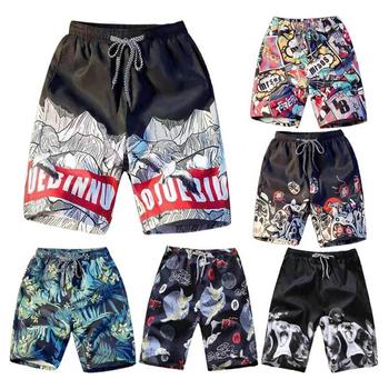 Spodenki plażowe męskie Trunk letnie krótkie spodnie drukuj oddychające szybkie suche spodenki do pływania M-4XL Plus rozmiar męskie spodenki letnie kąpielówki tanie i dobre opinie Luckinvoker Poliester WBL-M Pasuje prawda na wymiar weź swój normalny rozmiar