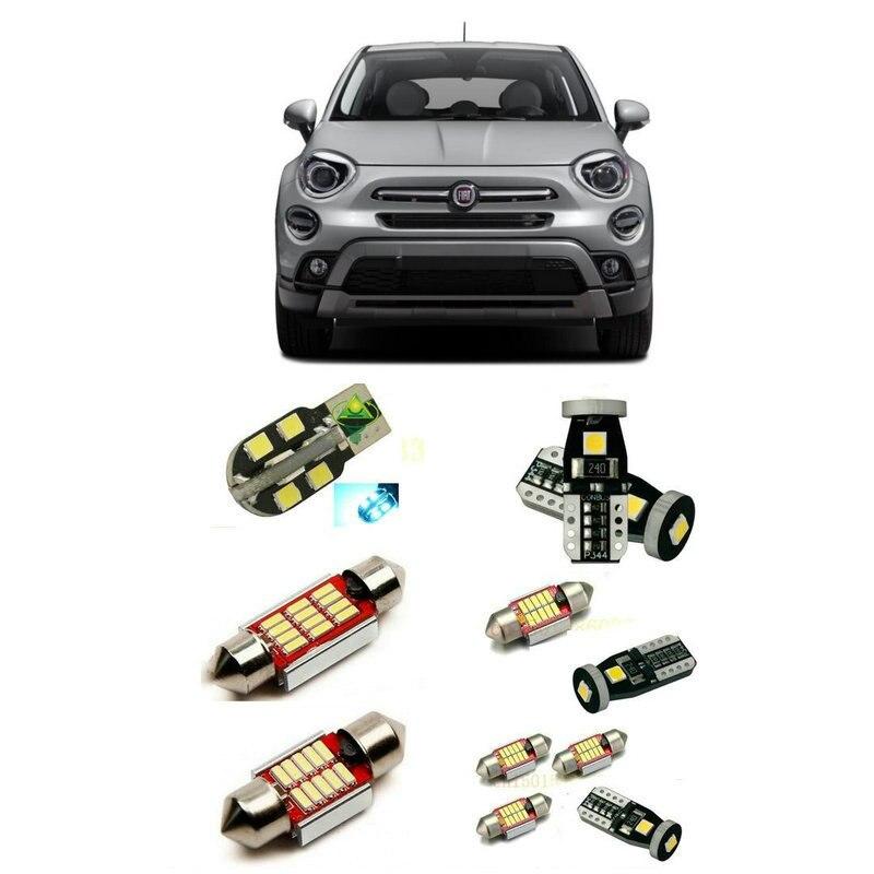 Car Led interior lights For Fiat 500X 2019 14pc Led Lights For Cars lighting kit bulbs Canbus