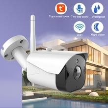 Tuya IP камера, WiFi, умная камера для наблюдения за жизнью, уличная камера, 1080 P, беспроводная, ночное видение, двухстороннее аудио, домашняя камера видеонаблюдения