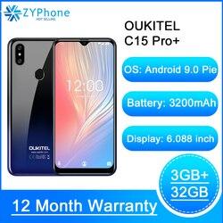OUKITEL C15 Pro 6,088 ''19:9 Android 9,0 мобильных телефонов, 3 Гб оперативной памяти, 32 Гб встроенной памяти, MT6761 в виде капли воды, 4G смартфон с функцией отпеч...